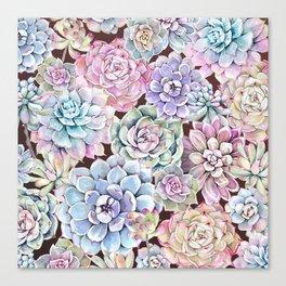 succulent allover Canvas Print