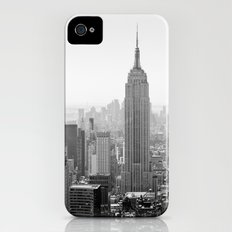 Manhattan - Empire State Building Panorama   B/W iPhone (4, 4s) Slim Case