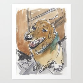 Gordy the Golden Retriever Art Print