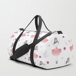 Little Dancing Ballerinas Pattern Duffle Bag