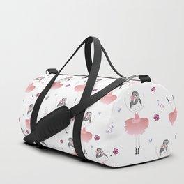 Little Dancing Ballerinas Pattern Duffle Bag
