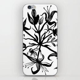 Black bouquet iPhone Skin