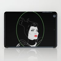 maleficent iPad Cases featuring Maleficent by Natasha Sines