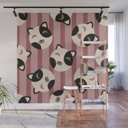 Cute kitty pattern Wall Mural