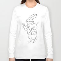 rabbit Long Sleeve T-shirts featuring Rabbit by Anna Shell