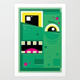 Zombieguy Art Print