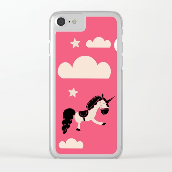 Unicorn pink Clear iPhone Case