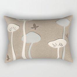 Mushrooms & Butterflies 2 Rectangular Pillow