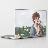 louis Laptop & iPad Skins featuring Flower Louis by Neqx
