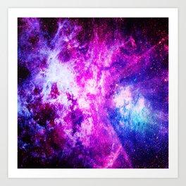 Purple Blue nebuLA Art Print