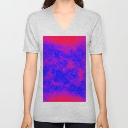 another blue on red Unisex V-Neck