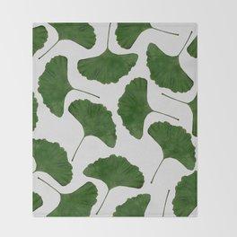 Ginkgo Leaf II Throw Blanket