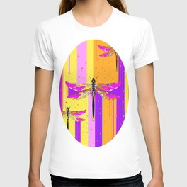 Purple-fuchsia  Dragonflies  Dreamscape Absract T-shirt