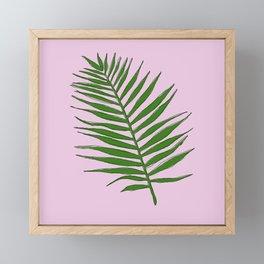 Palm (pink) Framed Mini Art Print