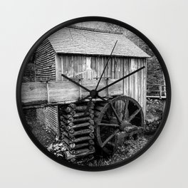 Cable Mill - Old Mill in Great Smoky Mountains Wall Clock