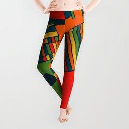 African geometric pattern Leggings