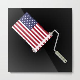 Paint Roller U.S.A. Metal Print