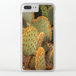 Orange cactus Clear iPhone Case