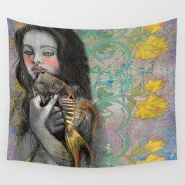 One wish Goldfish Wall Tapestry