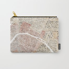 Paris map Carry-All Pouch