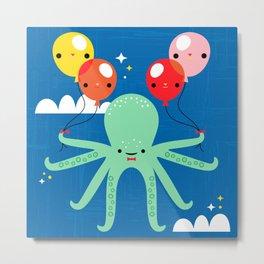 Sky Octopus Metal Print
