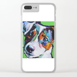 Fun JACK RUSSELL TERRIER Dog bright colorful Pop Art Clear iPhone Case