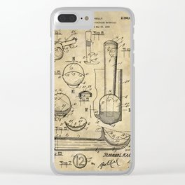 Ice Cream Scoop Blueprint Industrial Farmhouse Clear iPhone Case
