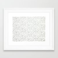 calligraphy Framed Art Prints featuring Calligraphy  by Johs