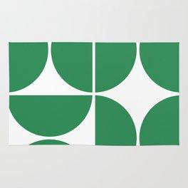 Mid Century Modern Green Square Rug