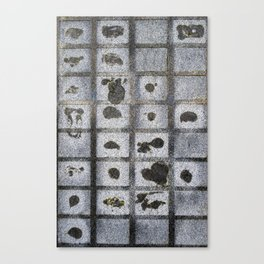 Grey Pattern #1 Canvas Print
