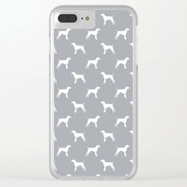 German Shorthair Pointer dog breed pet portraits dog silhouette unique dog breeds Clear iPhone Case