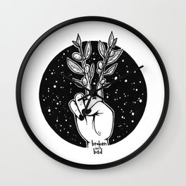 Grow Peace Wall Clock