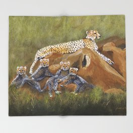 Cheetahs Throw Blanket