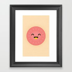 Party Plate Framed Art Print