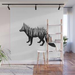 Fox Silhouette Wall Mural