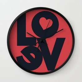 Love illustration, wall art, gift for couples, present for him, for her, Valentine's Day Wall Clock
