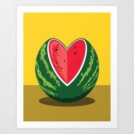 Watermelon Valentine No:1 Art Print