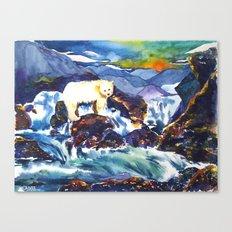 Sunset ♥ Bear Canvas Print