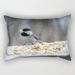 Hungry Chickadee Rectangular Pillow
