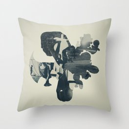 embers of clarity Throw Pillow