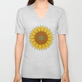 SUNNY DAY (abstract flowers) Unisex V-Neck