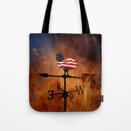 POTUS Trump and the Wind Of Times. Tote Bag