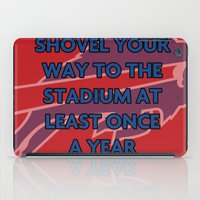 nfl iPad Cases featuring NFL - Bills Shovel Your Way by Katieb1013