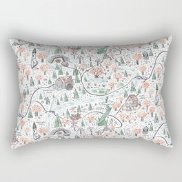 Enchanted Forest Map Rectangular Pillow
