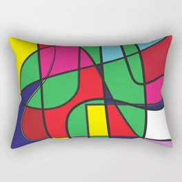 The flow color block minimalist modern art Rectangular Pillow