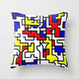 Primary Circuit Throw Pillow