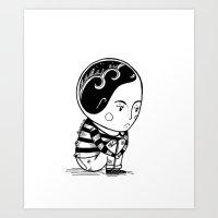 brain waves Art Prints featuring Brain Waves by Bianca No