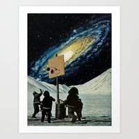 space jam Art Prints featuring Space Jam  by Daniel Madeline
