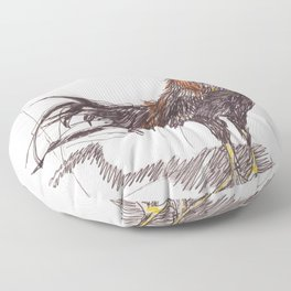 Rooster Floor Pillow