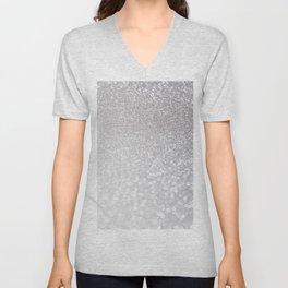Silver ice - glitter effect- Luxury design Unisex V-Neck